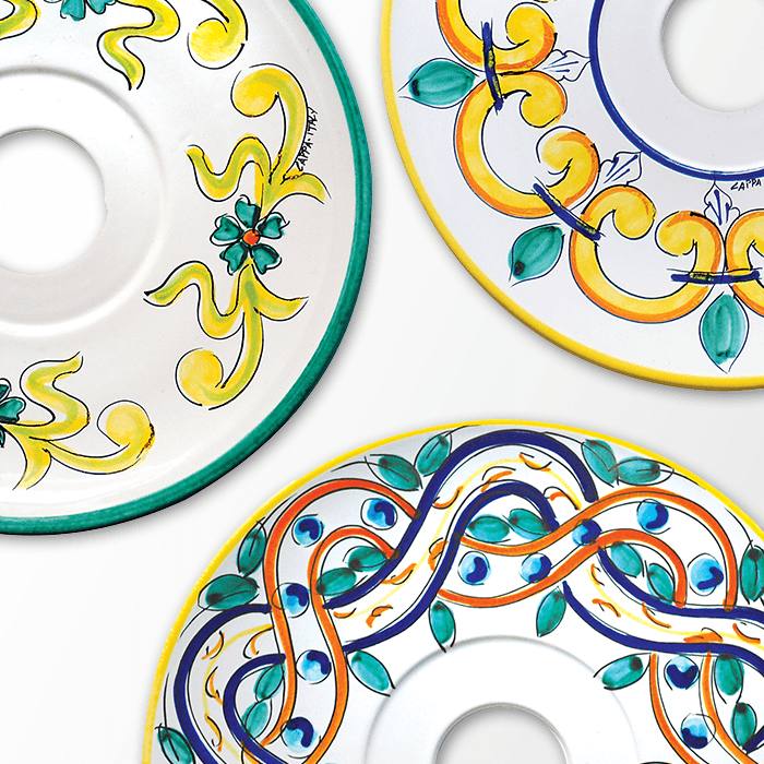 Piatti Ceramica Di Caltagirone.Piatti In Ceramiche Di Caltagirone Cappa S R L